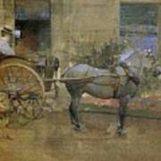 The Governess Cart Print by Joseph Crawhall