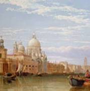 The Grand Canal - Venice Print by George Clarkson Stanfield