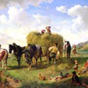 The Hay Harvest Print by Hermann Kauffmann