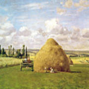 The Haystack Print by Camille Pissarro