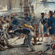 The Hero Of Trafalgar Print by William Heysham Overend