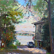The House By The River Print by Ylli Haruni