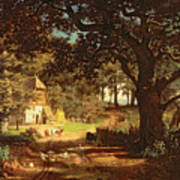 The House In The Woods Print by Albert Bierstadt