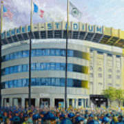 The House That Steinbrenner Wrecked Opening Day  Print by Gregg Hinlicky