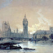 The Houses Of Parliament Print by David Roberts