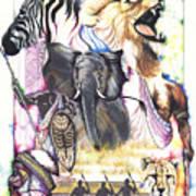 The Hunt Print by Anthony Burks Sr