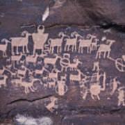 The Hunt Scene- Ancient Pueblo-anasazi Print by Ira Block