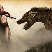 The Hyaenodons - Allie's Battle Print by Mandem