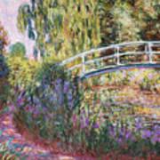 The Japanese Bridge Print by Claude Monet