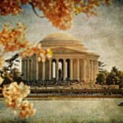The Jefferson Memorial Print by Lois Bryan
