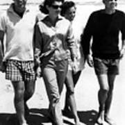 The Kennedys, Robert, Jackie, Ethel Print by Everett