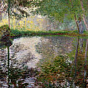 The Lake At Montgeron Print by Claude Monet