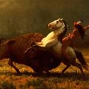 The Last Of The Buffalo Print by Albert Bierstadt