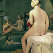 The Little Bather In The Harem Print by Jean Auguste Dominique Ingres