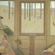 The Long Journey Print by Frederick Cayley Robinson