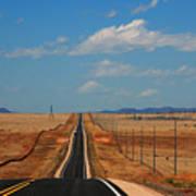 The Long Road To Santa Fe Print by Susanne Van Hulst