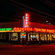 The Majestic Diner Print by Corky Willis Atlanta Photography