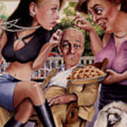 The Man And His Sweethearts Print by Denny Bond