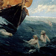 The Mermaid's Rock Print by Edward Matthew Hale