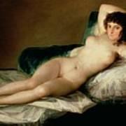 The Naked Maja Print by Goya