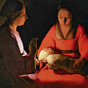 The New Born Child Print by Georges de la Tour