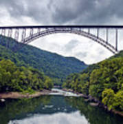 The New River Gorge Bridge In West Virginia Print by Brendan Reals