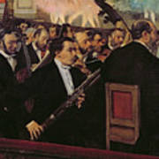 The Opera Orchestra Print by Edgar Degas