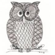 The Owl's Who Print by Paula Dickerhoff