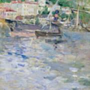 The Port At Nice Print by Berthe Morisot