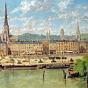 The Port At Rouen Print by Torello Ancillotti