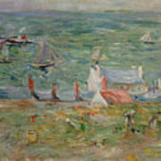 The Port Of Gorey On Jersey Print by Berthe Morisot