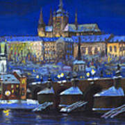 The Prague Panorama Print by Yuriy  Shevchuk