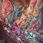 The Purple Stream Print by Elena Kotliarker