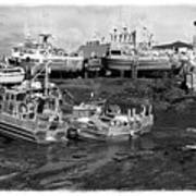 The Real Alaska - Caught At Low Tide Print by Pete Hellmann