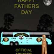 The Scream World Tour Football Tour Bus Fathers Day Print by Eric Kempson