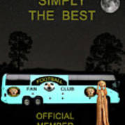 The Scream World Tour Football Tour Bus Simply The Best Print by Eric Kempson