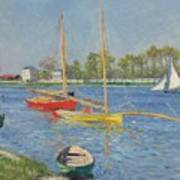 The Seine At Argenteuil Print by Gustave Caillebotte