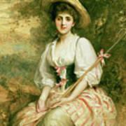 The Shepherdess Print by Sir Samuel Luke Fildes