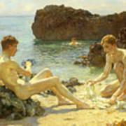 The Sun Bathers Print by Henry Scott Tuke