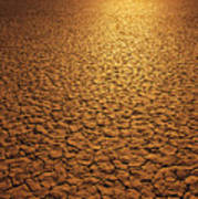 The Sun Reflects Off This Parched Lake Print by Bill Hatcher