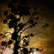 The Sunset Tree Print by Loriental Photography