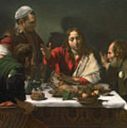 The Supper At Emmaus Print by Caravaggio