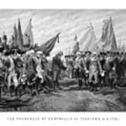 The Surrender Of Cornwallis At Yorktown Print by War Is Hell Store