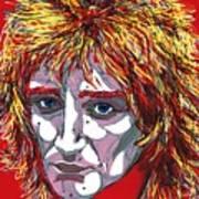 The Tartan Of Rod Stewart Print by Suzanne Gee