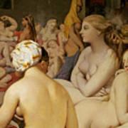 The Turkish Bath Print by Ingres