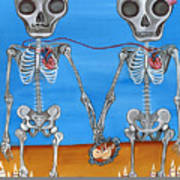 The Two Skeletons Print by Jaz Higgins