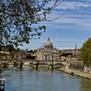 The Vatican By Day Print by Michelle Sheppard