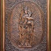 The Virgin Mary With Jesus Christ Print by Netka Dimoska