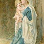 The Virgin Mary With Jesus Print by John Lawson