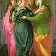 The Visitation Print by Jacopo Pontormo